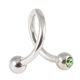 Steel Double Jewelled Spiral 1.2mm 1.2 / 8 / Light Green