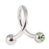 Steel Double Jewelled Spiral 1.2mm 1.2 / 10 / Light Green