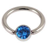 1.2 jewelled ball closure rings (bcrs) capri blue / 12