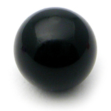 Acrylic Ball (Plain) 1.2mm, 4mm / Black