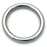 Steel Smooth Segment Ring 2.4mm, 10mm