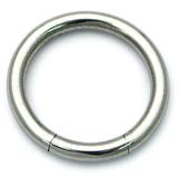 Steel Smooth Segment Ring 4.0mm, 12mm