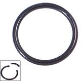 Black Steel Smooth Segment Rings 1.6mm, 12mm