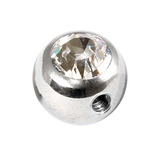 Steel Side-threaded Jewelled Balls 1.2x3mm clear