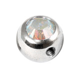 Steel Side-threaded Jewelled Balls 1.6x5mm crystal ab
