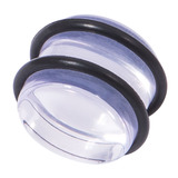 Acrylic Plug 12-24mm 24mm, Clear