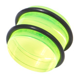 Acrylic Plug 12-24mm 12mm, Green