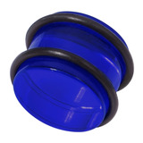 Acrylic Plug 12-24mm 16mm, Blue
