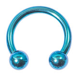 Titanium Circular Barbells (CBB) (Horseshoes) 1.2mm 1.6mm 1.6mm, 10mm, (4mm), Turquoise