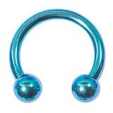 Titanium Circular Barbells (CBB) (Horseshoes) 1.2mm 1.6mm 1.2mm, 8mm, (3mm), Turquoise