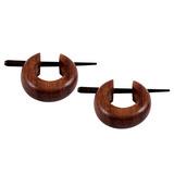 Organic Tribal Ear Jewellery (EAR1) Wood - sold in pairs - price per pair. EAR1