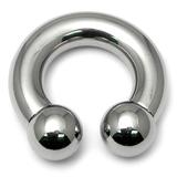 Steel Circular Barbell (CBB) 6mm 8mm 10mm Large Gauge 6mm, 19mm, 10mm, Internal Thread