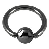 Black Titanium BCRs with a Black Titanium Ball 1.2mm, 12mm, 4mm