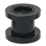 Acrylic Screw Flesh Tunnel 2-8mm 3 / black