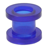 Acrylic Screw Flesh Tunnel 2-8mm 3 / uv blue