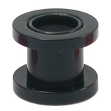 Acrylic Screw Flesh Tunnel 2-8mm 4 / black
