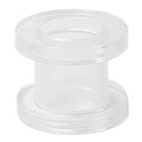 Acrylic Screw Flesh Tunnel 2-8mm 4 / uv clear