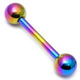 Titanium Micro Barbells 1.2mm 8mm, 3mm, Rainbow
