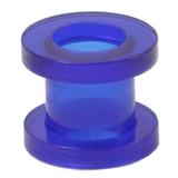 Acrylic Screw Flesh Tunnel 2-8mm 6 / uv blue