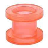 Acrylic Screw Flesh Tunnel 2-8mm 6 / uv pink