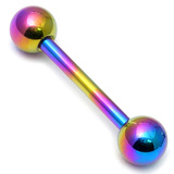 Titanium Micro Barbells 1.2mm 10mm, 3mm, Rainbow