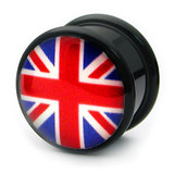 Acrylic Logo Plugs 16-20mm 18 / Union Jack