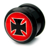 Acrylic Logo Plugs 16-20mm 20 / Maltese cross 1