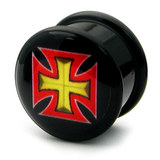 Acrylic Logo Plugs 16-20mm 20 / Maltese Cross 2