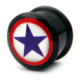 Acrylic Logo Plugs 16-20mm 20 / Blue Star