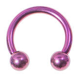 Titanium Circular Barbells (CBB) (Horseshoes) 1.2mm 1.6mm 1.6mm, 14mm, (5mm), Purple