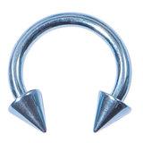Titanium Coned Circular Barbells (CBB) (Horseshoes) 1.6mm x 14mm, Ice Blue