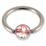 Steel Jewelled BCR 1.6mm Light Pink / 6