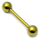 Titanium Barbell 1.6mm  6-16mm 16mm, 5mm, Gold