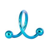 Titanium Spirals 1.6mm 10mm, Turquoise