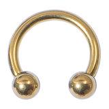 Titanium Circular Barbells (CBB) (Horseshoes) 1.2mm 1.6mm 1.6mm, 14mm, (5mm), Gold