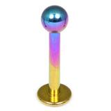 Titanium Labrets 1.6mm 1.6mm,12mm, (4mm) Rainbow