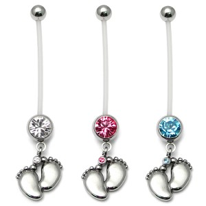 Pregnancy Belly Bars Baby Feet (PTFE)