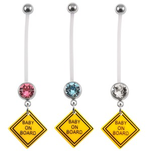 Pregnancy Belly Bars Baby on Board (PTFE)