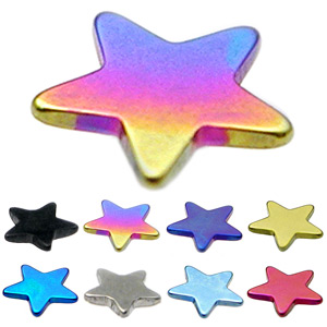 Dermal Anchor Attachments - Stars