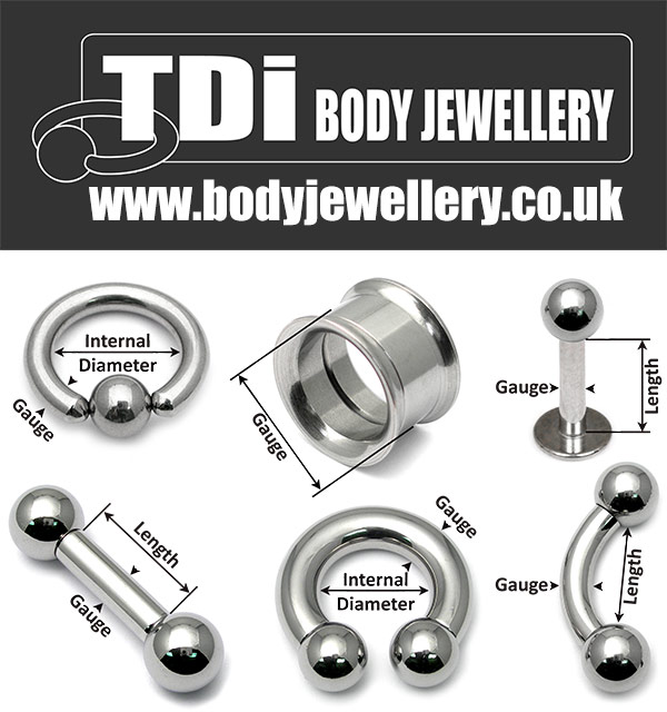 How to Measure Size Body Piercing Jewellery