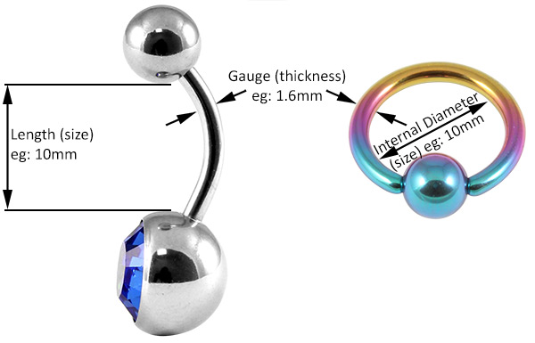 How to measure your body jewellery