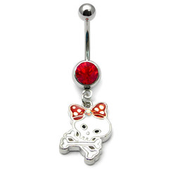 Skull & Bow Belly Bar