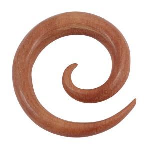 Organic Wood Spiral Expanders - Sawo Wood