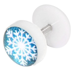 Acrylic Logo Fake Plug - Christmas Snowflake