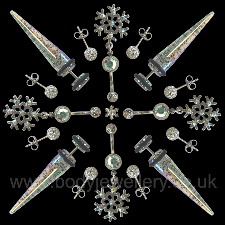 Snowflake1 created from body piercing jewellery