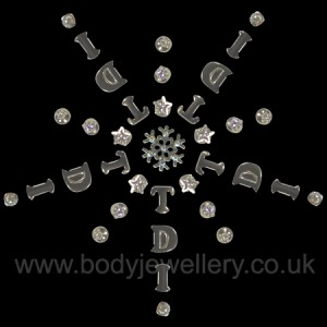 Body Jewellery Snowflake Design No 6