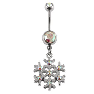 Belly Bar - Jewelled Snowflake