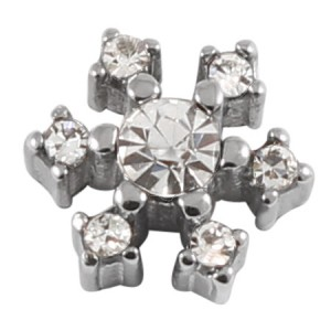 Steel Threaded Attachment - Cast Steel Jewelled Snowflake