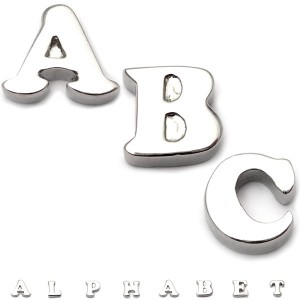 Alphabet  Threaded Attachments