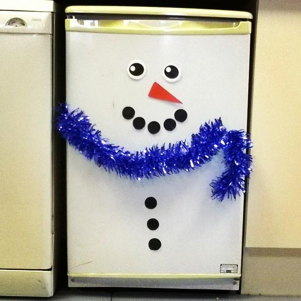 TDi snowman fridge